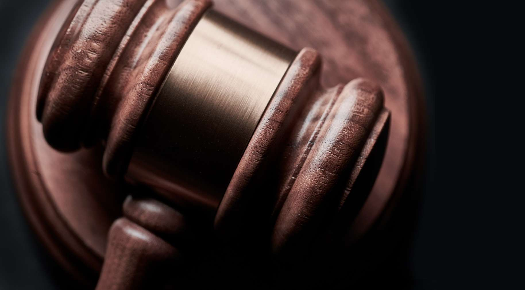 A courtroom gavel