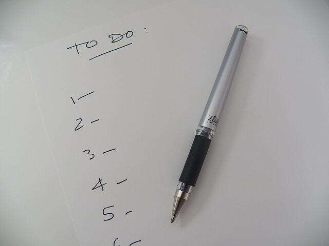 To do list with pen